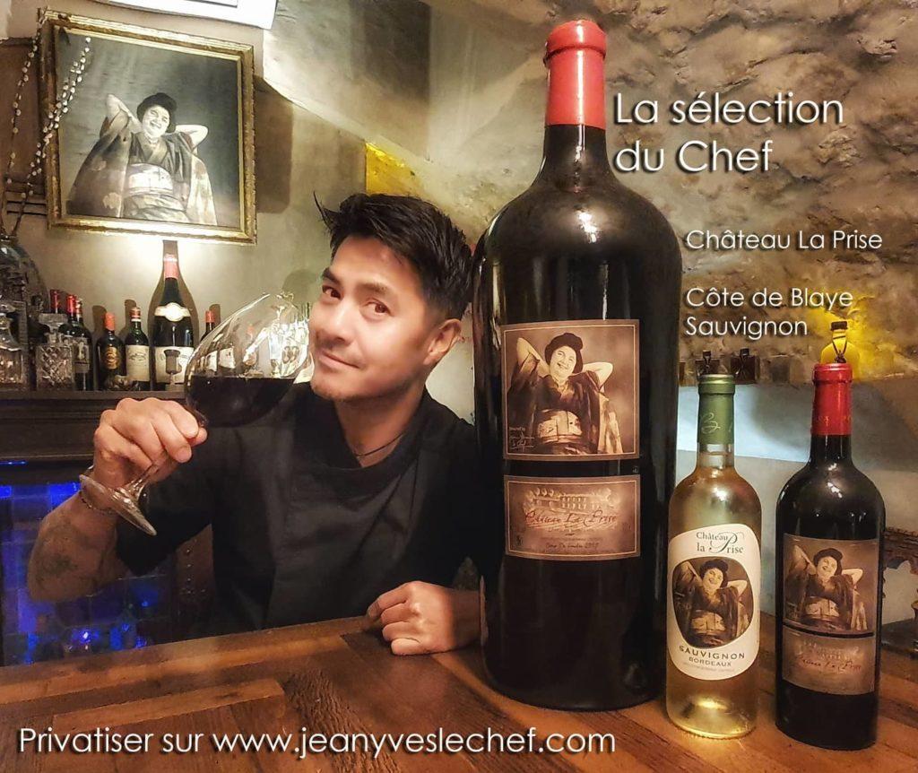Privatiser des moments savoureux et déguster la sélection de vin du Chef avec Château La Prise
