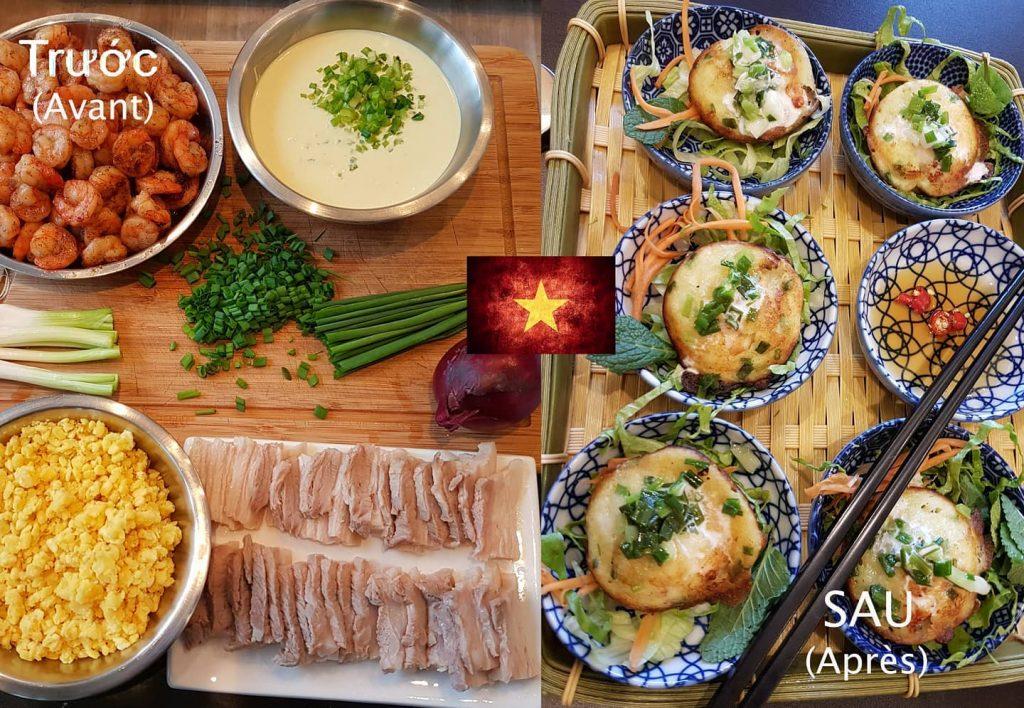 """Les délicieux """"bánh khọt"""". Une spécialité du Sud du Vietnam, sans gluten car confectionnés à base se"""